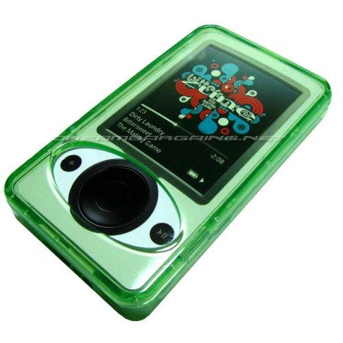Premium Zune 30GB Crystal Case w/ Kickstand, Neckstrap, and Belt Clip - Green ()