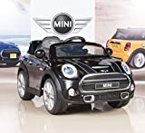 BigToysDirect 12V MINI Cooper Kids Electric Ride On Car with MP3 and Remote Control - Black