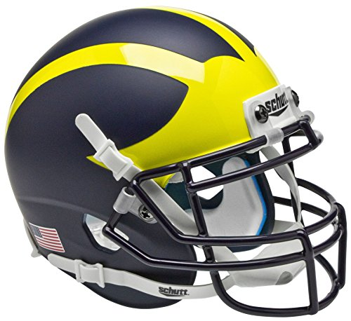 College Football Team Helmets - Schutt Sports Michigan Wolverines Authentic Mini Collectible Football Helmet, Classic