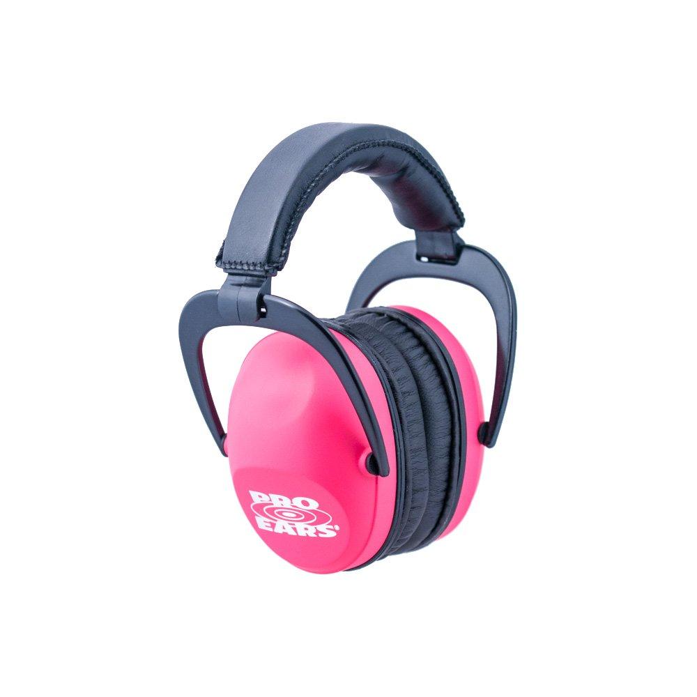 Pro Ears Ultra Sleek Hearing Protection NRR 26 PEUSP Ear Muffs, Pink by Pro Ears