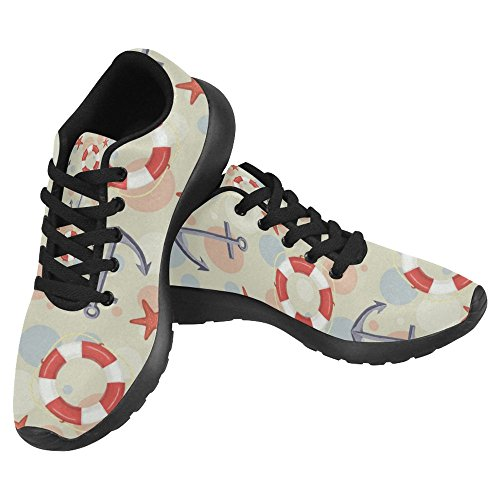 Easy Anchor Running Womens Elements 1 Pattern Comfort Walking Sneaker Multi Running Shoes Starfish Jogging Nautical With Lightweight Sports Casual Go and Lifebuoy InterestPrint FUYpwEqp