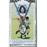 Pewter St. Christopher Medal with Prayer Card - Soccer (Male)