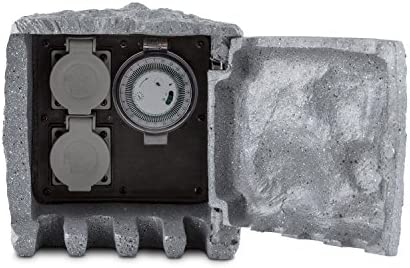 Waldbeck Timer Rock - Distribuidor Toma de Corriente, Uso Exterior ...