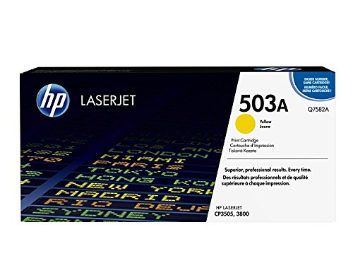 HP 503A (Q7582A) Yellow Original LaserJet Toner Cartridge - Hp Color Laserjet 3600 Toner