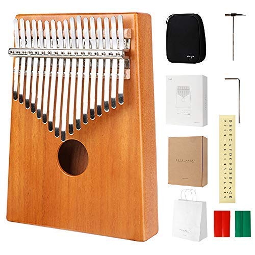 Used, Enya 17 Key Kalimba Thumb Piano Solid Mahogany Body for sale  Delivered anywhere in USA