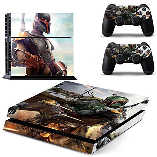 Vanknight Vinyl Decal Skin Sticker Boba Fett for PS4 Playstaion 4 Controllers Star Wars