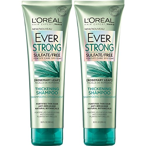 L'Oreal Paris Hair Care Ever Strong Sulfate Free Thickening Shampoo, 2 Count