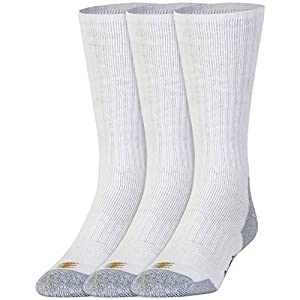 PowerSox Men's 3-Pack Cushion Boot Socks White Sock Size:10-13/Shoe Size: 6-12