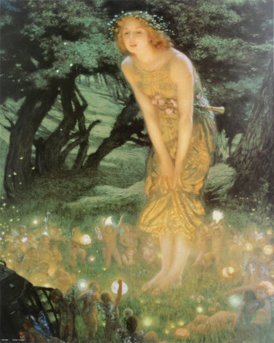 Midsummer Dream by Edward Robert Hughes Poster Print