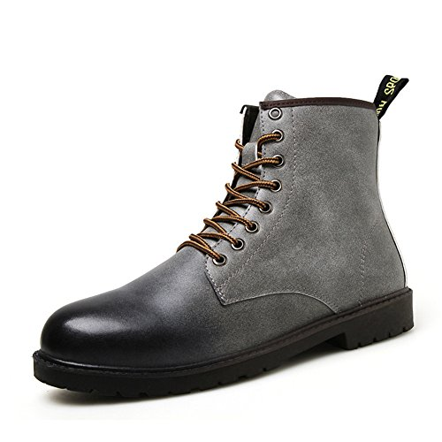 Leader show Men's Classic Leather Combat Boot Shoe Outdoor Military Work Desert Boots