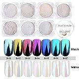 PrettyDiva 1g/Box Laser Holographic Nail Powder Rainbow Chrome Nail Powder Manicure Pigment