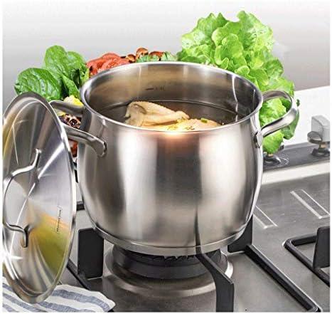 YWSZJ Pot à soupe avec couvercle en acier inoxydable collé au lave-vaisselle