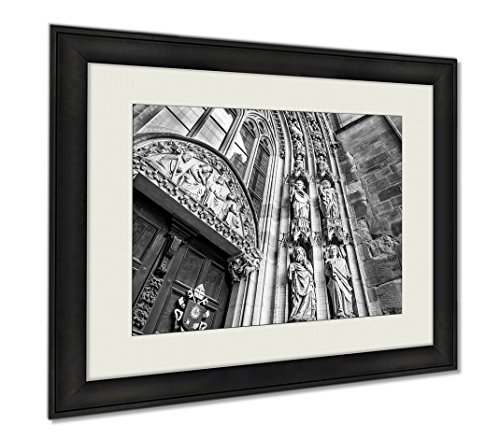 Ashley Framed Prints Cathedral Of St Peter Or Worms Cathedral In Worms Landmark For The City For, Wall Art Home Decoration, Black/White, 26x30 (frame size), AG5783395 by Ashley Framed Prints