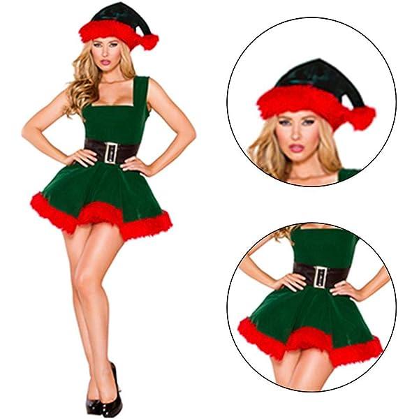 Disfraz Mujer de Navidad Elfo Cosplay,Navidad Tallas Grandes Mujer ...