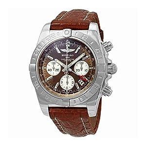Breitling Chronomat 44 GMT Chronograph Automatic Brown Dial Men's Watch AB042011/Q589-740P