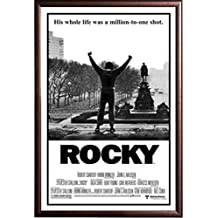 Framed Classic Movie - Rocky Balboa 24x36 Poster in Rust Finish Wood Frame