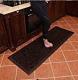 Amcomfy Premium Kitchen Anti Fatigue Mat,Comfort Floor Mats,Standing Mats,Antique Series (24 x 70 x 3/4 Inches, Antique Dark)