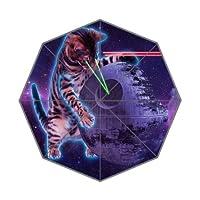 Galaxy Space Hipster Cat Pattern 100% Fabric And Aluminium Auto Foldable Umbrella