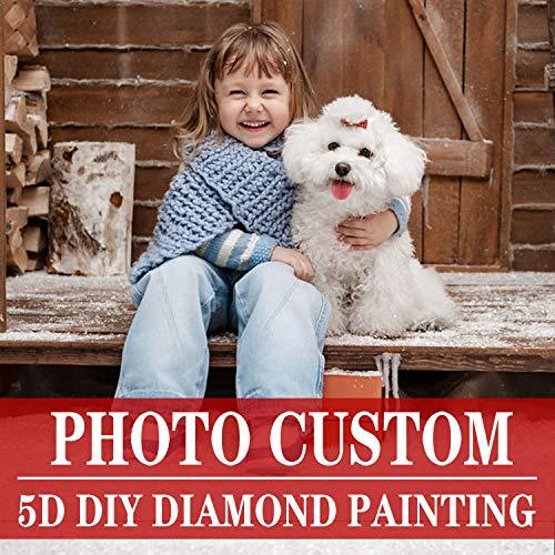 - Photo Custom Diamond Paintings Kits for Adults,Full Drill Private Custom Photo Custom Make Your Own Diamond Painting Diamond Decoration Gifts (Photo Custom Diamond Painting, 11.8×15.7 in/30×40 cm)