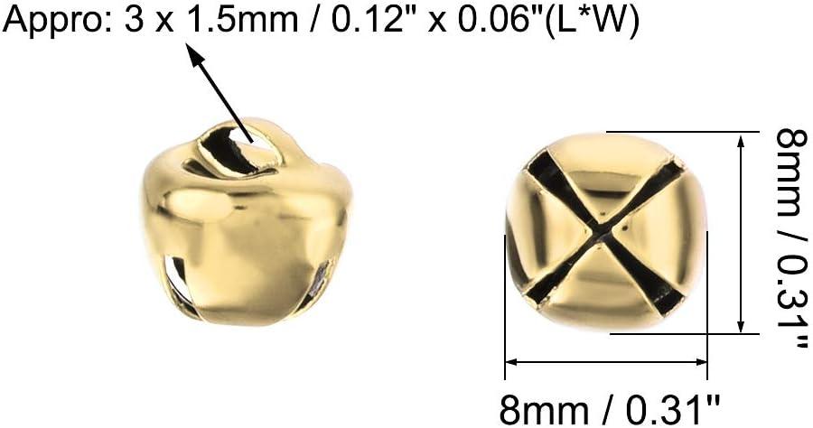 6mm//0.24-Inch 200pcs uxcell Jingle Bells Craft Bells Bulk DIY Bells for Christmas Festival Decoration Party Home Golden