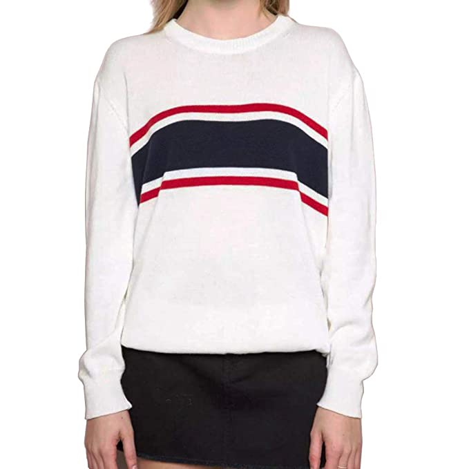 3f0d191cc0fa0 Germinate White Sweaters Women Casual Work Christmas Holiday Crewneck  Knitted Pullover Plus Size (Beige