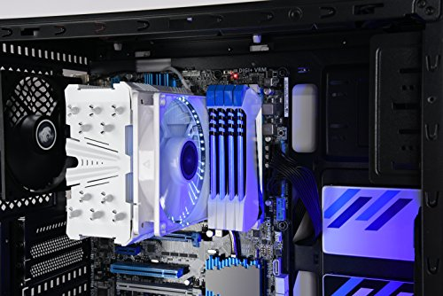 LEPA LPC502 ATX Gaming Mid Tower Computer Case with 2 LED Fans Pre-installed and 2 USB 3.0, LPC502W-BL(2U3)