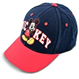 Disney Little Boys' Mickey Mouse Cotton Baseball Cap, Blue, Red, One Size