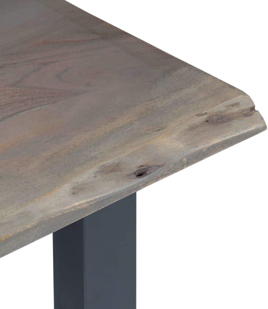 Goedkoop Tidyard Industriële consoletafel, woonkamertafel, vintage, 115 x 35 x 76 cm, massief acaciahout en ijzer, bruin en zilver grijs. grijs. EebzFoi