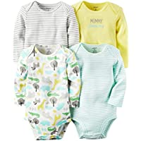 Carter's Unisex Baby Multi-Pack Bodysuits 126g362, Assorted, 3 Months