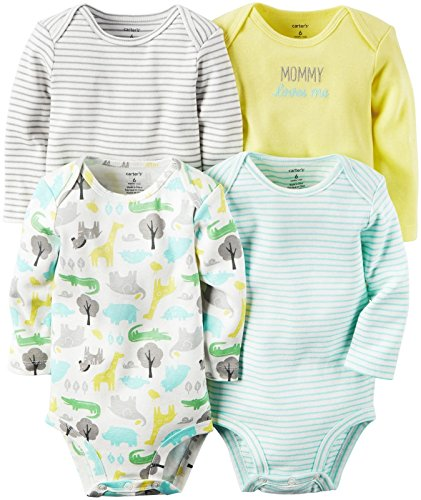 Carter's Baby Multi-pk Bodysuits 126g362, Yellow, New Born