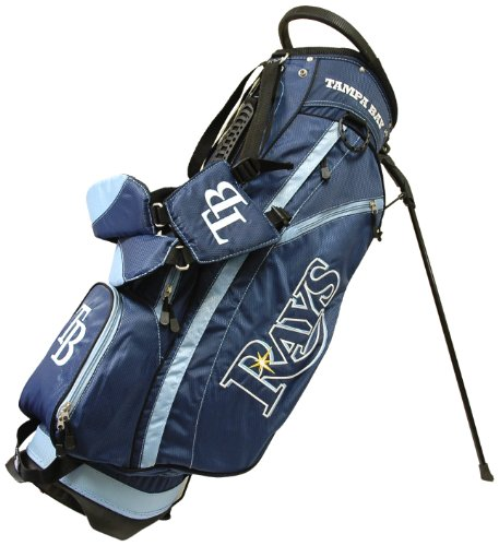Team Golf MLB Tampa Bay Rays Fairway Golf Stand Bag, Lightweight, 14-way Top, Spring Action Stand, Insulated Cooler Pocket, Padded Strap, Umbrella Holder & Removable Rain ()