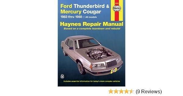 Ford tbird mercury cougar 8388 haynes repair manuals haynes ford tbird mercury cougar 8388 haynes repair manuals haynes 9781850103387 amazon books fandeluxe Images