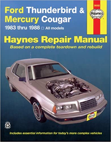 Ford tbird mercury cougar 8388 haynes repair manuals haynes ford tbird mercury cougar 8388 haynes repair manuals 1st edition fandeluxe Images