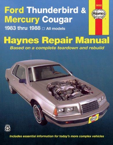 Ford Tbird & Mercury Cougar '83'88 (Haynes Repair Manuals)