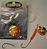 ORANGE HALO Single blade Colorado Orange/Yellow #4 Worm Harness Monofilament Rig