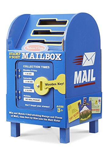 Image of Melissa & Doug Stamp and Sort Wooden Mailbox Activity and Toy