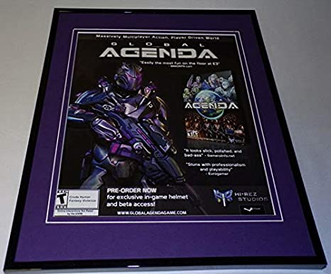 Global Agenda 2010 Framed 11x14 ORIGINAL Advertisement at ...