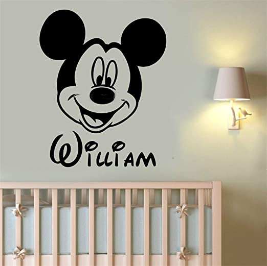 pegatina de pared Mickey Minnie Mouse Wall Art Decal Sticker ...