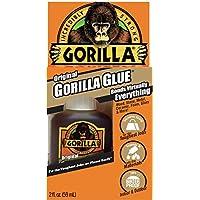 Gorilla Original Gorilla Glue, Pegamento impermeable de poliuretano, Botella de 2 onzas, Marrón