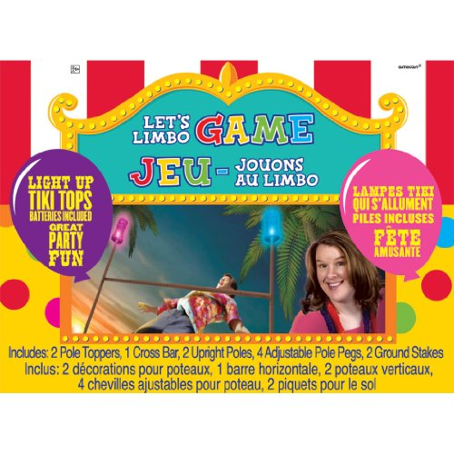 Amscan Carnival Fair Fun Luau Limbo Game Party Activity, Plastic, Pack of 11 free shipping