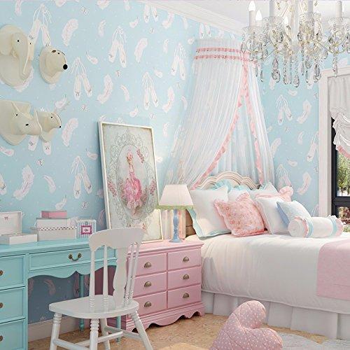 Y-Hui Wallpaper, Feather Cartoon, Children'S Warm Bedroom, Pink Paper Wallpaper,B