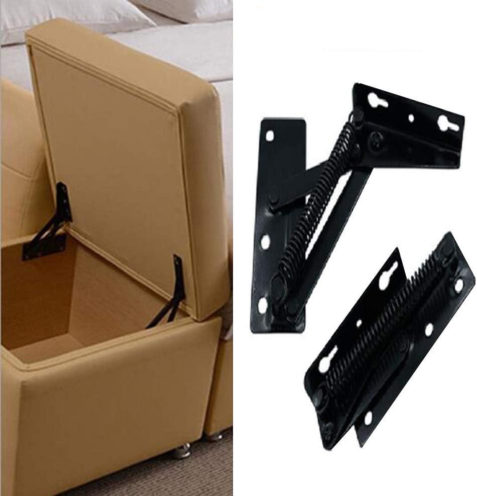 la bisagra de resorte negro se usa ampliamente en el elevador de bisagras de sof/á, YUM 2 piezas de soporte de elevaci/ón plegable de 80 grados