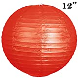 "12 pack 12"" Paper Lanterns Lamp Shades Party Supplies - Red"