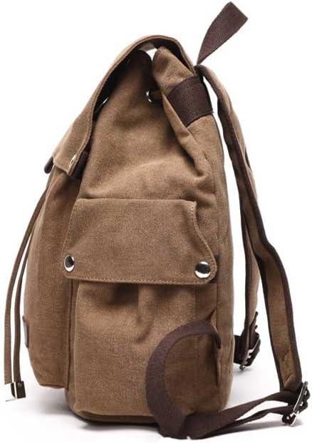 Amyannie Canvas Bag Retro Men and Women Canvas Shoulder Bag Urban Work White-Collar Travel Backpack