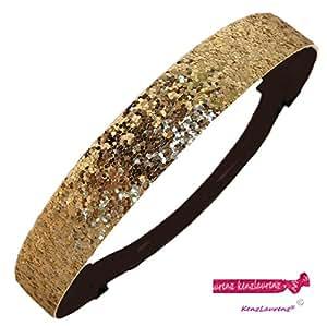 Gold Glitter Sparkly Sports Headbands - Glitter Headband Store