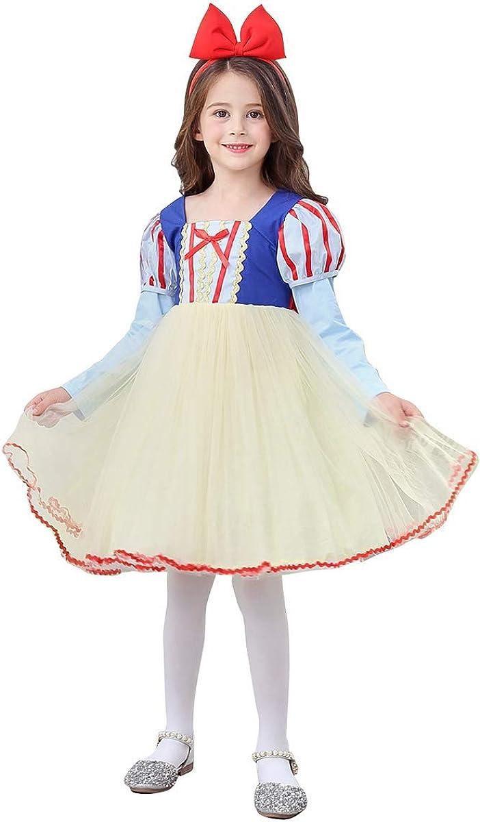 Vestito bambina Biancaneve Carnevale vestitino compleanno 1-10 anni