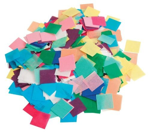 Hygloss Tissue Squares - 1 inch Squares - 2,500 Pieces - Pack of 1 - Assorted Colors ()