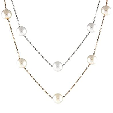 Amazon.com: Mujer elegante collar de acero inoxidable con ...