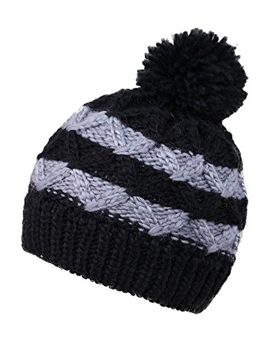 Beanie for Kids Winter Hat Fleeced Lined Cap for Children, Striped 3 -