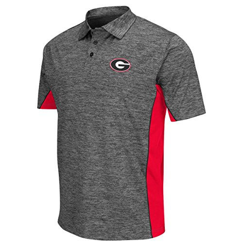 "Georgia Bulldogs NCAA ""Back Rush"" Men's Performance Polo Shirt - Charcoal"